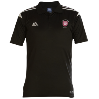 Atlanta Polo Shirt (Black/White) - League 1 Champions Badge