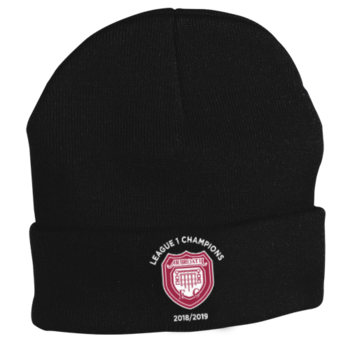 Woolly Hat - Black (League 1 Champions Badge)